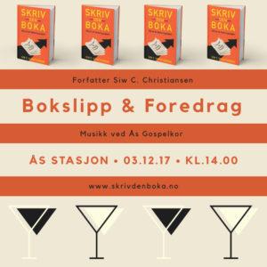 Plakat Bokslipp & Foredrag